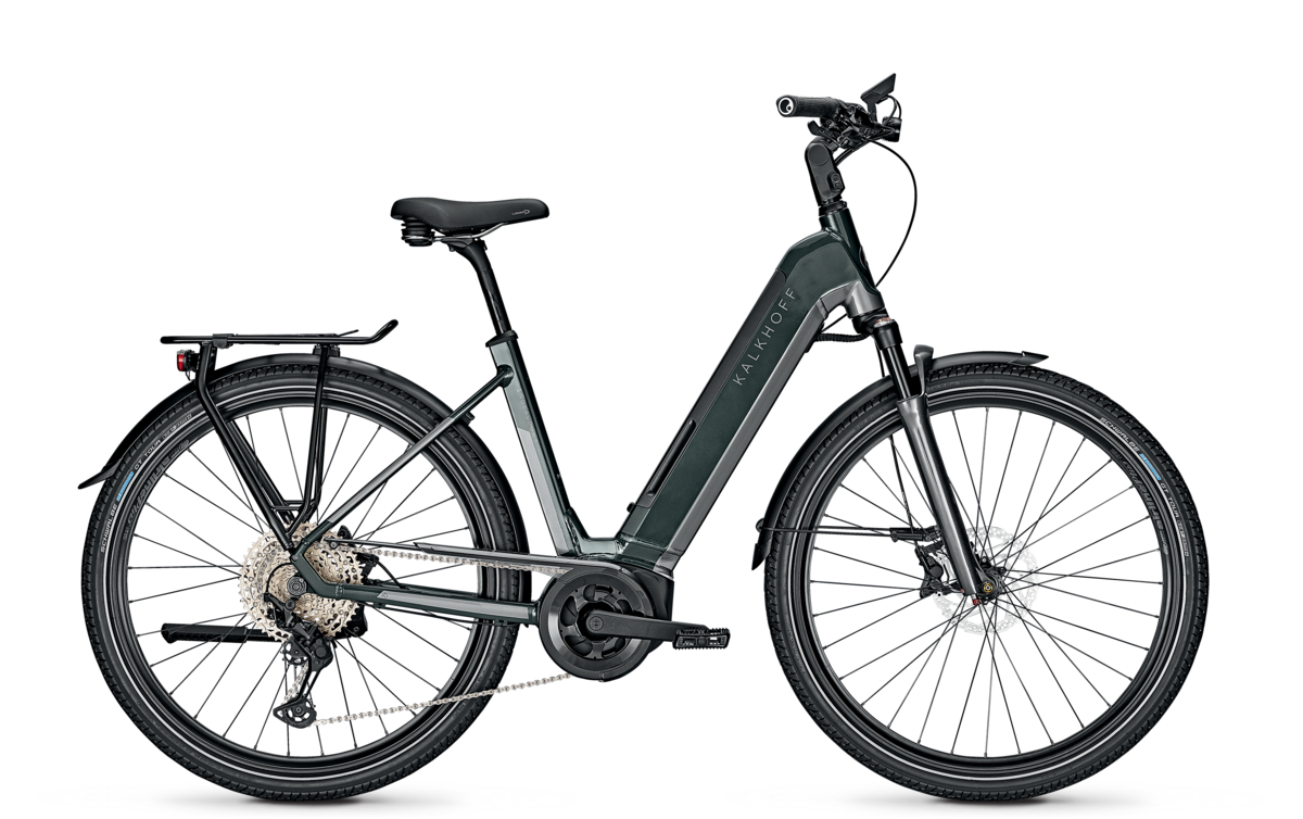 """Kalkhoff Endeavour 5.B Excite+, Wave, 53L - 625WH, Freilauf,deepgreen/jetgrey glossy, 28"""",MJ21 Shimano Deore XT 12 / Bosch Kiox colour display"""