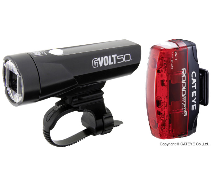 CatEye Beleuchtungskit GVolt 50 + Micro G - SET GVOLT50/MICRO RAPID HL-EL550GRC/TL-LD620G