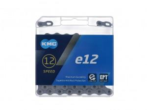 """Schaltungskette KMC e12 EPT Silber - 1/2"""" x 11/128"""" 130 Glieder 12-fach"""