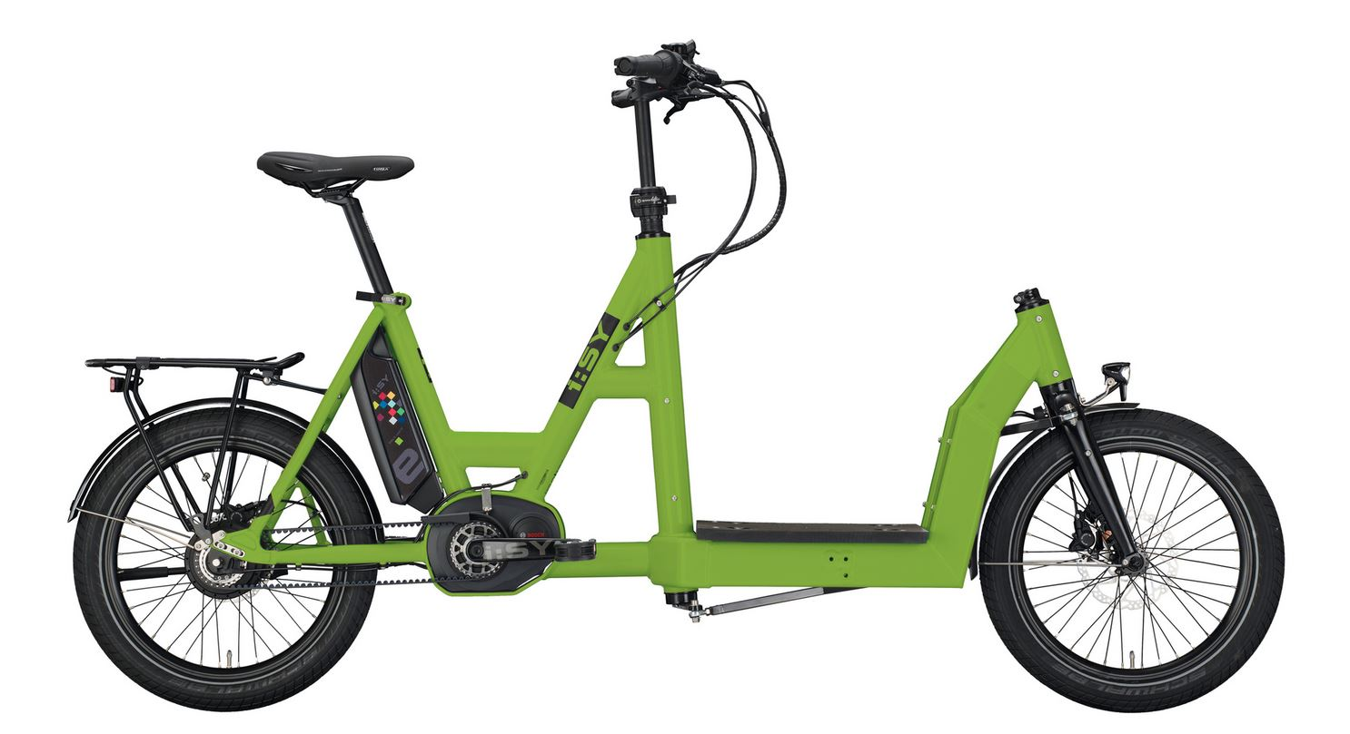 "I:SY Drive Cargo N3.8 ZR, unisex - 500WH, Freilauf, light green matt, 20"", MJ2021"