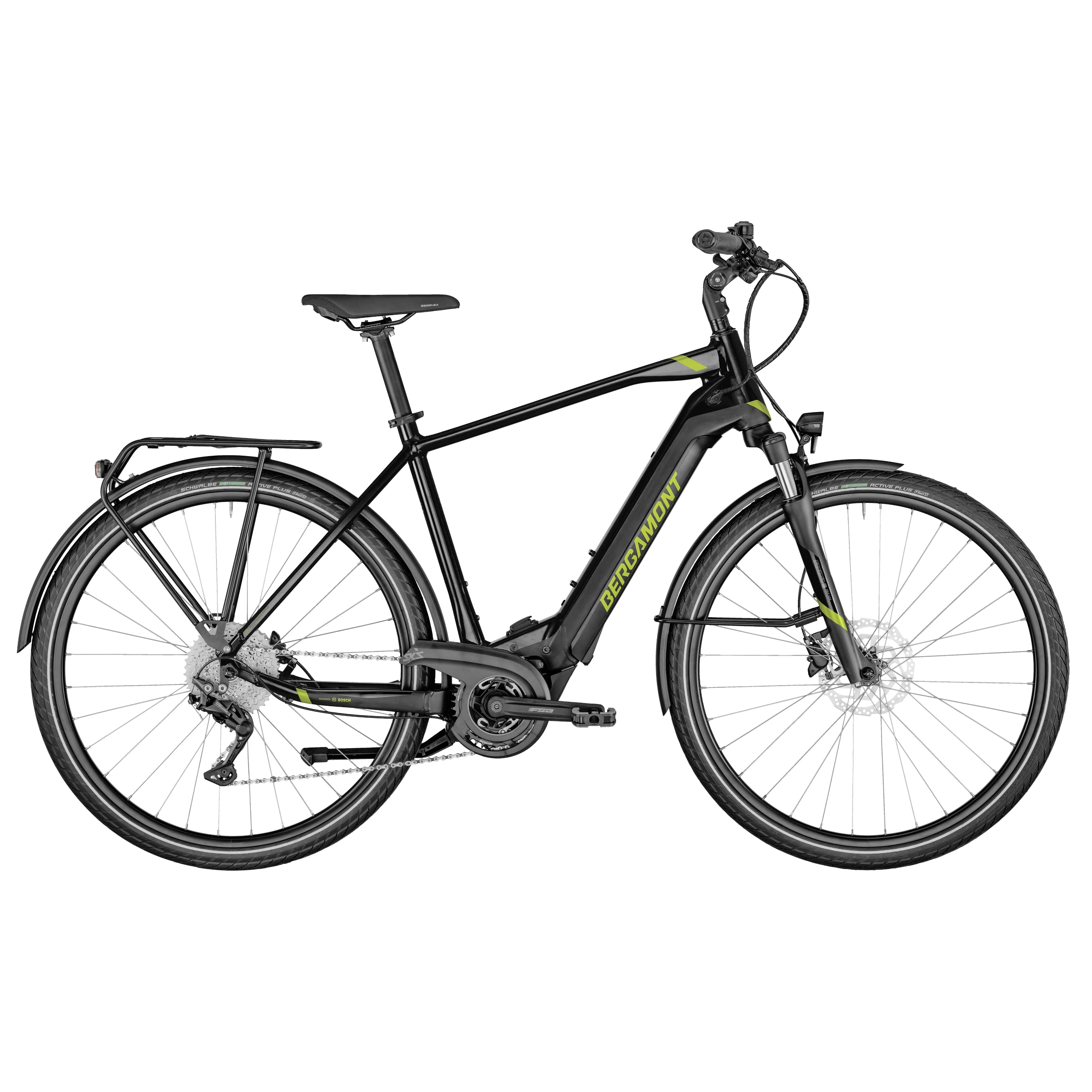 """Bergamont E-Horizon Sport Gent black, Diamant, L56 - 625WH, Freilauf, Black, 28"""", MJ2021"""