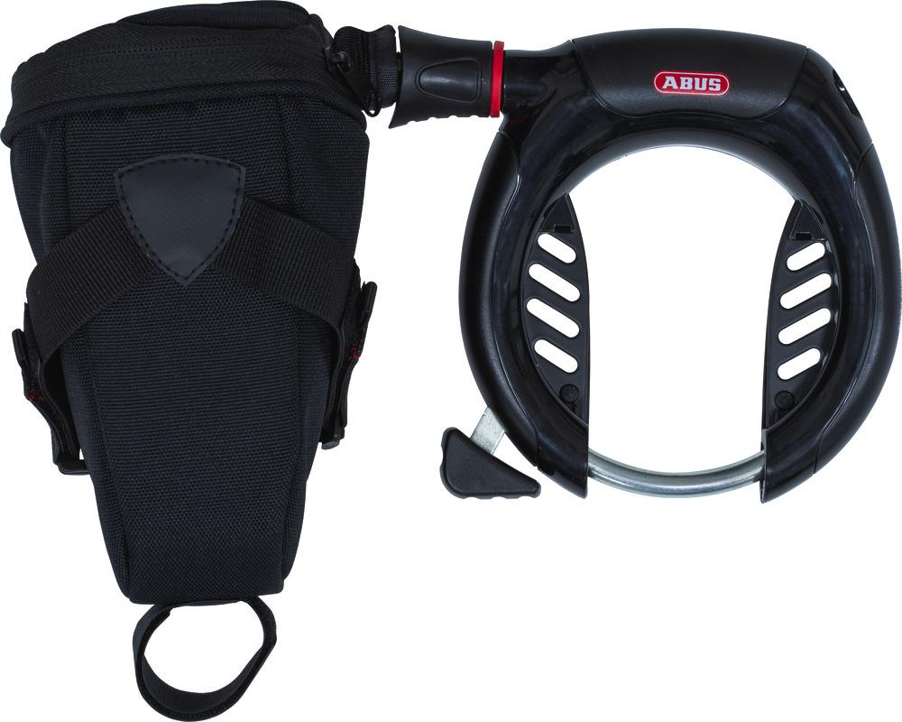 Abus Rahmenschloss mit Einsteckkette und Tasche - 5950 NR BK+ 6KS/100 + ST 5950
